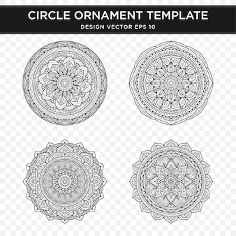 Satz von abstrakten ornament design mit mandala-konzept-stil