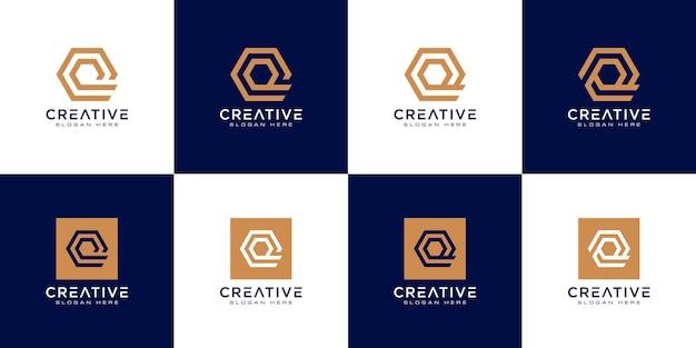 Satz von anfangsbuchstaben q-logo-design-vektor