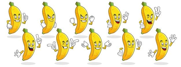 Satz von bananenzeichen