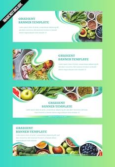 Satz von banner-template-design für social media und websites