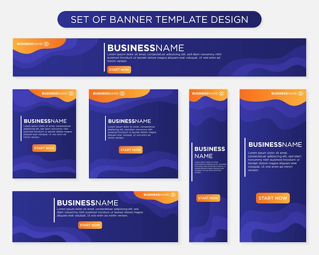 Satz von banner-vorlage design
