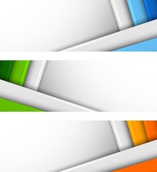 Satz von bannern mit linien. abstrakte illustration