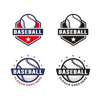 Satz von baseball-logo-vorlage