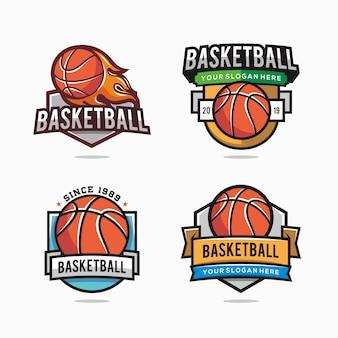 Satz von basketball-logo für ihr team