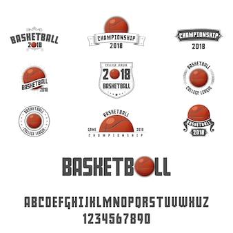 Satz von basketball-logo