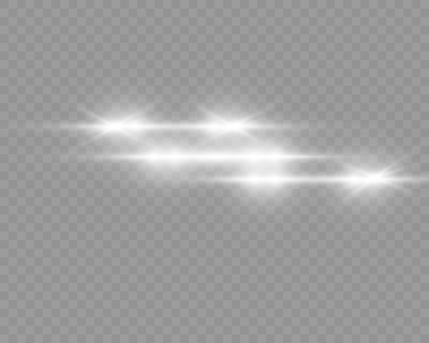Satz von blitzen, lichtern und funken
