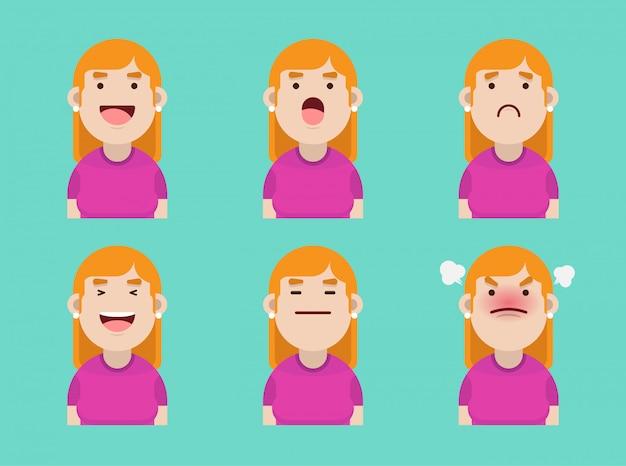 Satz von blonden frauen avatar