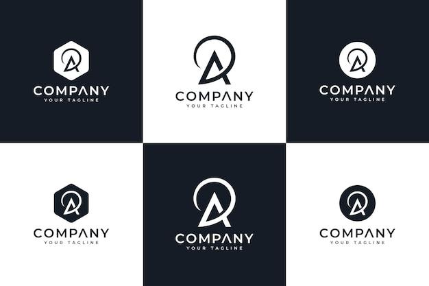 Satz von buchstaben-ap-logo kreatives design für alle zwecke
