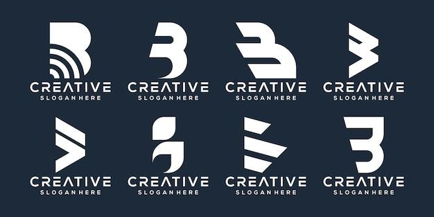 Satz von buchstaben b logo-design