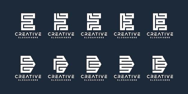 Satz von buchstaben-e-logo-design