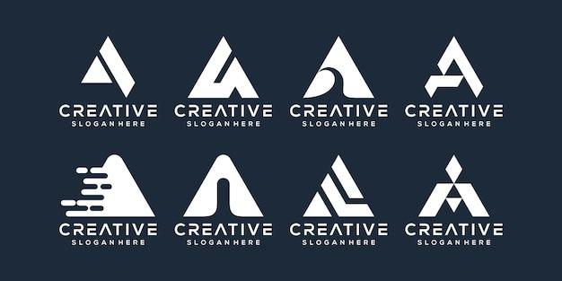 Satz von buchstaben ein logo-design