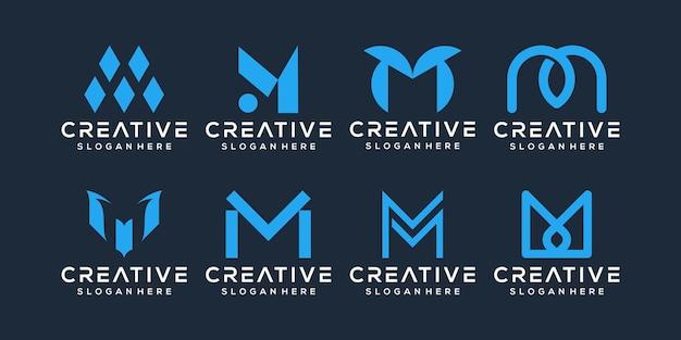 Satz von buchstaben m logo-design