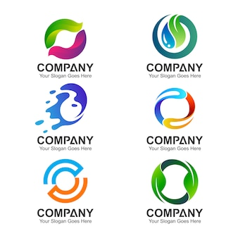 Satz von buchstaben o logo-vorlagen