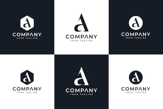 Satz von buchstaben und logo kreatives design für alle zwecke