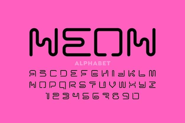 Satz von buchstaben und zahlen des alphabets