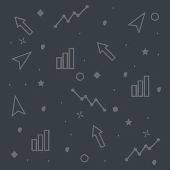 Satz von business doodle textur design