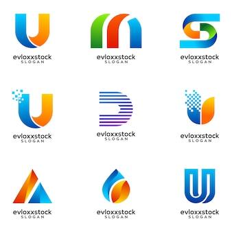 Satz von business logo design vector template