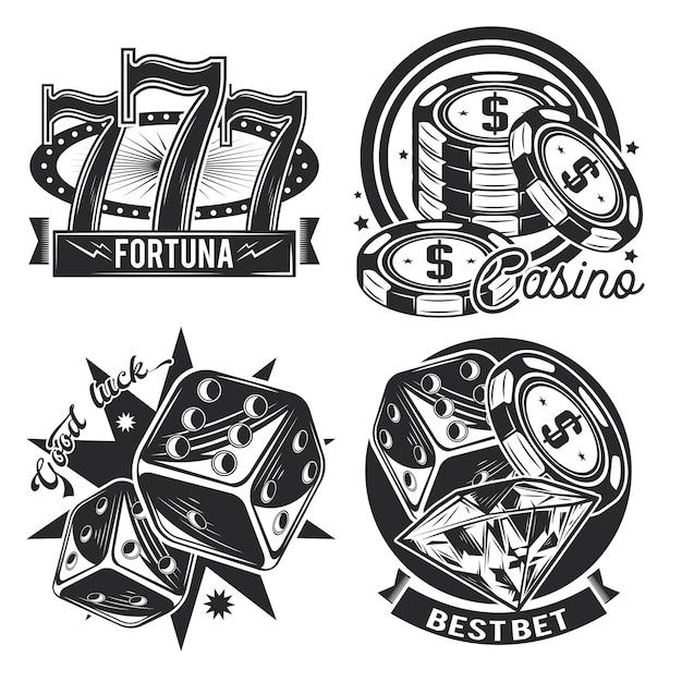 Satz von casino-emblemen