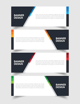 Satz von creative flat banner design template