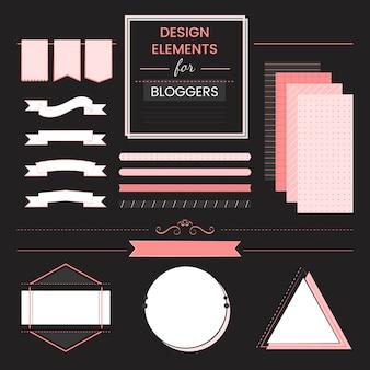 Satz von designelementen für blogger