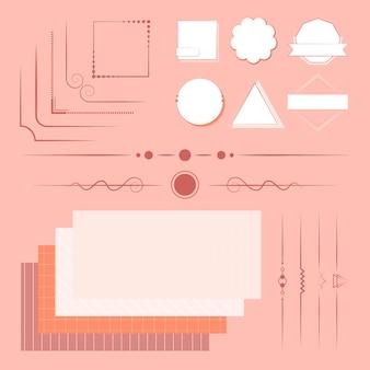 Satz von designelementen vektor