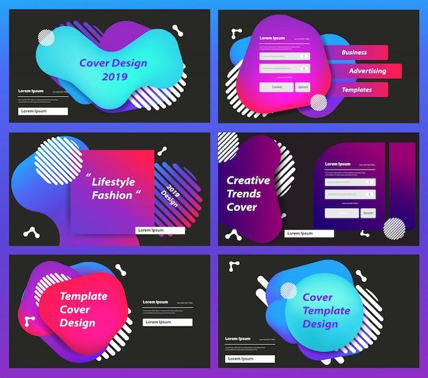 Satz von designvorlagen für webseiten