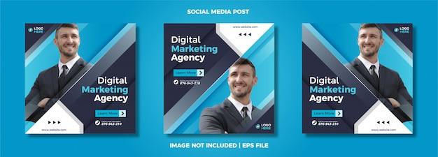 Satz von digital marketing social media post-vorlage.