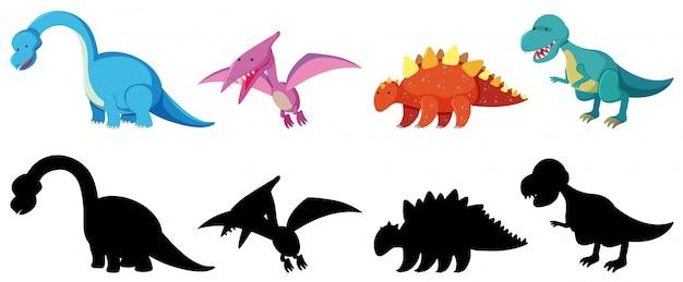 Satz von dinosaurier-charakter