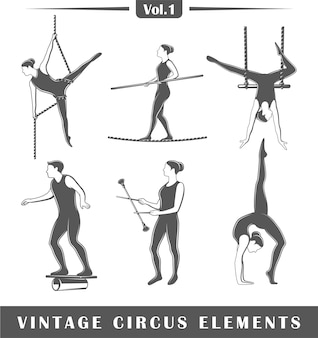 Satz von elementen des zirkus