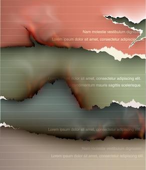 Satz von elementen transparentes design zerrissene vorlagen zerrissenes papier.