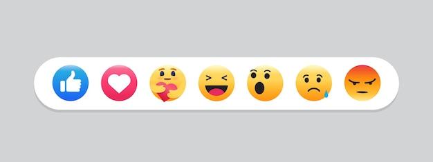 Satz von emoticon. emoji social media.