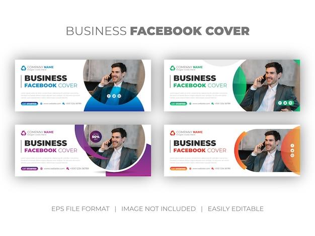 Satz von facebook-cover oder web-banner-designvorlage der agentur für digitales marketing der sozialen marketingagentur