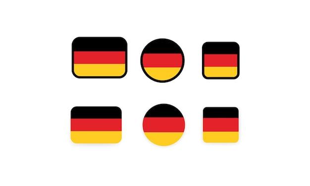 Satz von flaggen von deutschland. nationalflagge deutschland. deutsche flagge. deutschland symbolillustration