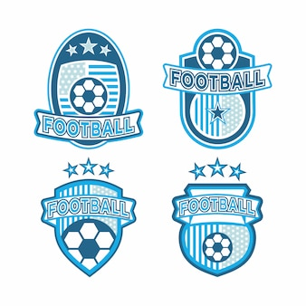 Satz von fußball-logo