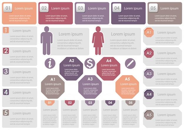 Satz von geschäftsbezogenen infografik