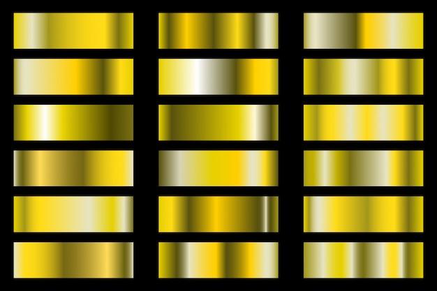 Satz von goldenen farbverlauf