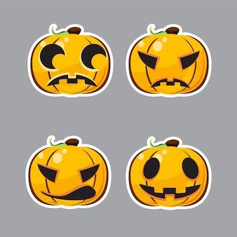 Satz von halloween charakter.