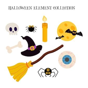 Satz von halloween-elementen