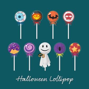 Satz von halloween lollipop.