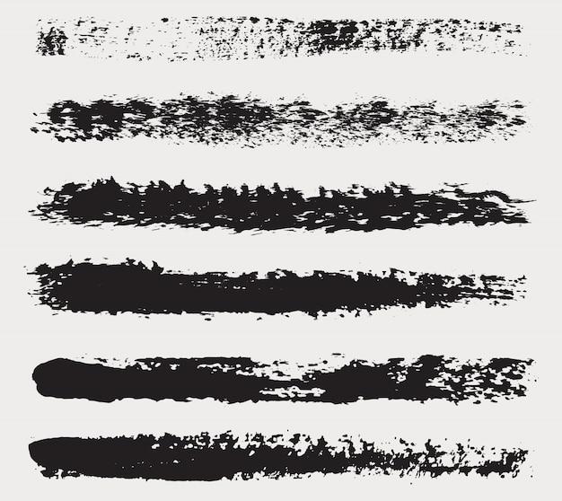 Satz von hand gezeichneten pinsel