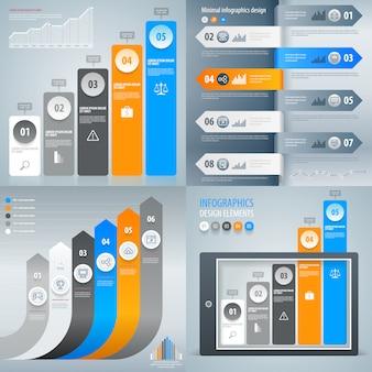 Satz von infografik-elementen. diagramm, diagramm, statistik, grafik.