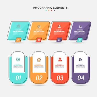 Satz von infografik-elementen.