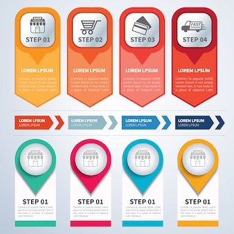 Satz von infografik-vorlagen flach