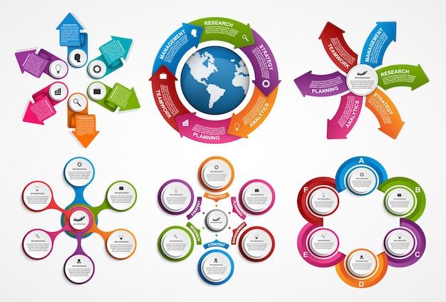 Satz von infografiken. design-elemente.