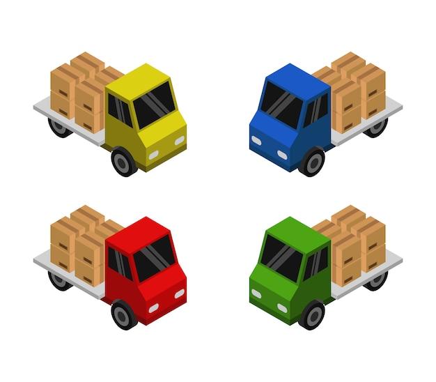 Satz von isometrischen lieferwagen