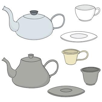 Satz von kaffee oder tee-set