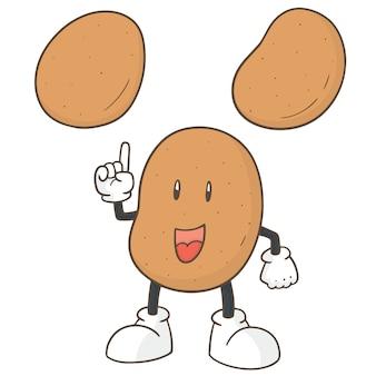 Satz von kartoffeln