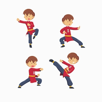 Satz von kung fu master