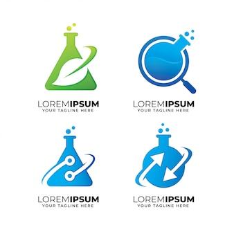 Satz von laborelementen-logoentwurfsschablone
