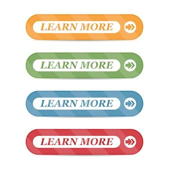 Satz von lernen mehr knöpfe mit den lokalisierten schatten